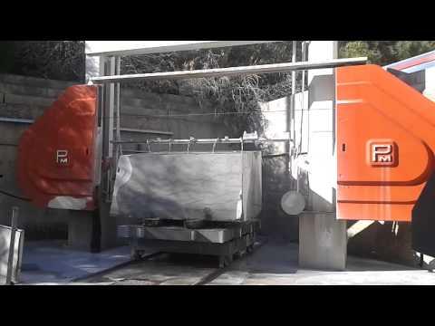 Visualizza il Video Squadratura blocco di Nerello Siciliano con filo diamantato | Prodotti in Marmo | Sicilia