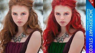 getlinkyoutube.com-Photoshop - มาเปลี่ยนสีผม สีชุดกันเถอะ เทคนิคเปลี่ยนสีภาพง่ายๆ ใครก็ทำได้   JackiePixart