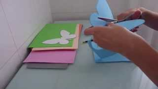 getlinkyoutube.com-Mariposas de goma eva para decorar el balcón