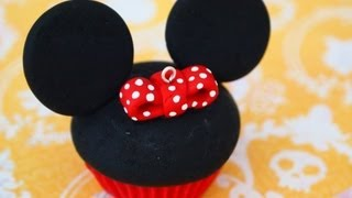 getlinkyoutube.com-Minnie Mouse Cupcake