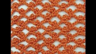 getlinkyoutube.com-Crochet: Variación Punto Red. Recto