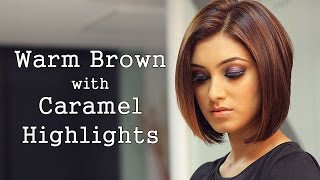 getlinkyoutube.com-How to: Warm Brown Hair with Caramel Highlights!