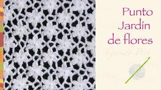 getlinkyoutube.com-Punto jardín de flores tejido a crochet! Incluye diagrama ;)