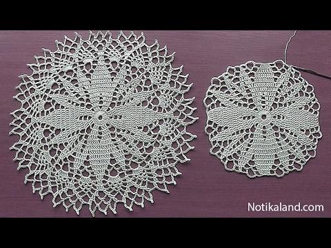 Crochet How to crochet doily Part 3  9 - 11 round   Crochet doily rug tutorial