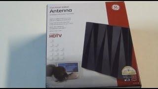 getlinkyoutube.com-GE 24703 Flat Panel Indoor TV Antenna Unboxing
