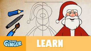 getlinkyoutube.com-Let's Draw Santa - Talking Ginger's Scribblemania