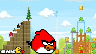 getlinkyoutube.com-Angry Birds Friends - Retro Games Weekly Tournament All Level 1-6 3 Star Walkthrough 3/2/2015
