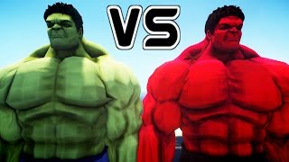 getlinkyoutube.com-Hulk vs Red Hulk - Epic Battle
