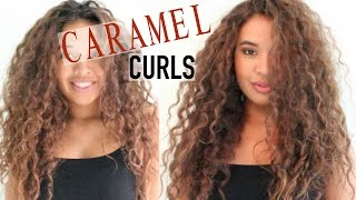 getlinkyoutube.com-Dying My Curly Hair | Dark Brown to Light Brown