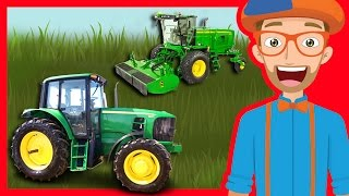 getlinkyoutube.com-Tractors and Trucks for Children by Blippi | Educational Videos for Kindergarten