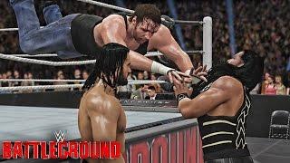 getlinkyoutube.com-WWE 2K16 Battleground 2016 : Dean Ambrose vs Roman Reigns vs Seth Rollins Triple Threat Match!