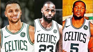Stephen Curry Joins Celtics with Kevin Durant & LeBron James After Celtics Beat Warriors