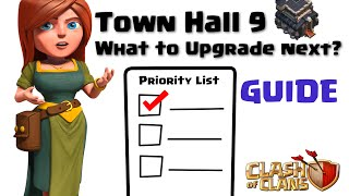 getlinkyoutube.com-Clash of Clans - What to Upgrade Next? TH9 Guide