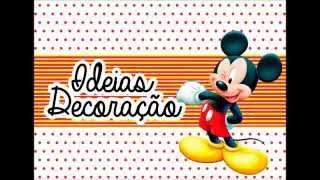 getlinkyoutube.com-Ideias para decoração #1 :  Mickey