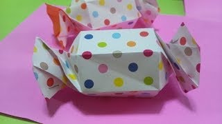 getlinkyoutube.com-折り紙 キャンディー型パッケージ    Origami  candy wrapper gift box