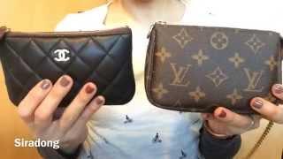 getlinkyoutube.com-Comparison LV mini pochette & Chanel small pouch
