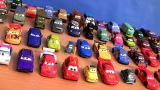getlinkyoutube.com-Cars 2 Checklist Complete Diecast Collection + Entire Ultimate Chase Racers Disney Pixar