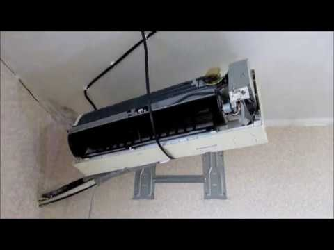 Как снять кондиционер и повесить его на стену после ремонта.