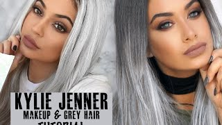 getlinkyoutube.com-Kylie Jenner smoked out wing makeup + how to edit your hair grey!