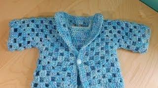 getlinkyoutube.com-Crochet un abrigo o suéter para Bebé  parte 1 De 2 - con Ruby Steman