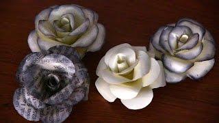 getlinkyoutube.com-Como hacer Flores de papel (Rosas) facil