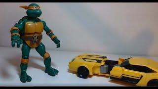 getlinkyoutube.com-Michelangelo Tartaruga Ninja e Bumblebee