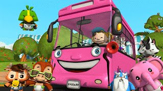 Wheels on the Bus | Pink Wheels on the Bus | Songs for Kids by Little Treehouse
