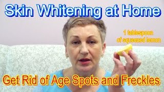 getlinkyoutube.com-Get Rid of Age Spots and Freckles at Home - Skin Whitening🍋🌝
