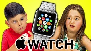 getlinkyoutube.com-KIDS REACT TO APPLE WATCH