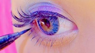 getlinkyoutube.com-Kawaii big eyes FLASHY COLOR MAKEUP TUTORIAL|紅林大空派手メイク