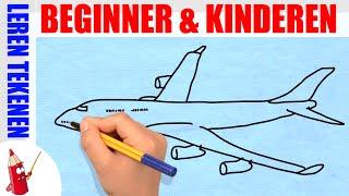 getlinkyoutube.com-Vliegtuig tekenen in 80s - Leren tekenen voor beginners en kinderen ★ Deel 22