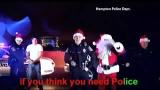 Police perform Jingle Bells remix to get law enforcement message out