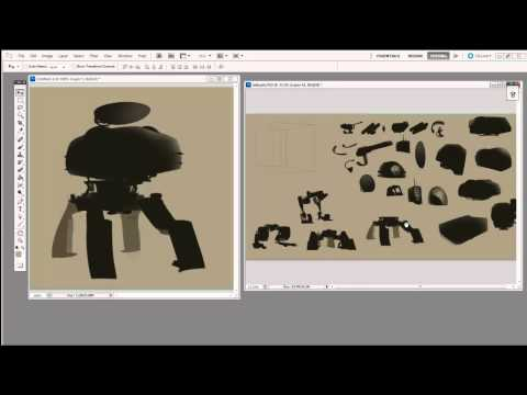 Digital Painting -- Modular Thumbnail Sketching