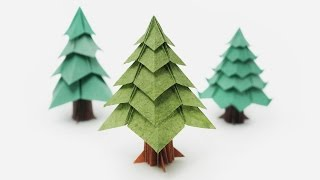 getlinkyoutube.com-Origami Christmas Tree (Jo Nakashima)