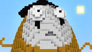 getlinkyoutube.com-Minecraft vs Zombies | GIGA IMITATER (Deep Stare!) | PvZ  Land
