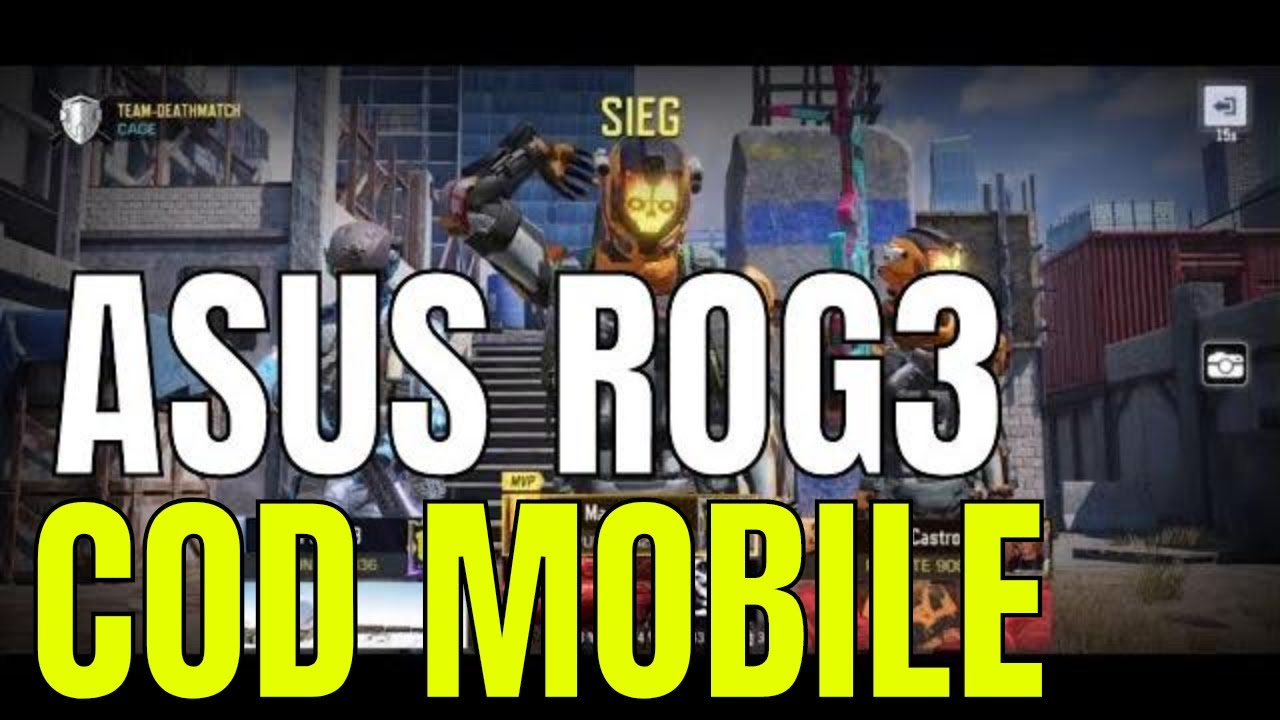 COD Mobile Fastround on Asus ROG3