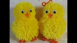 getlinkyoutube.com-pompom chick & bunny tutorial
