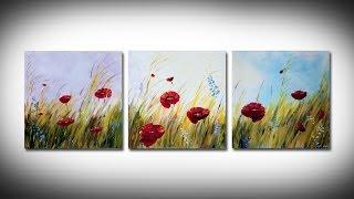 getlinkyoutube.com-Simple poppies painting