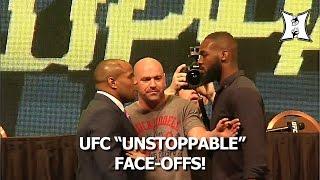 "getlinkyoutube.com-Intense Face-Offs! DC vs Jones, Rockhold vs Weidman, Cruz vs Faber At ""UFC Unstoppable"""