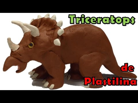 Tutorial triceratops de plastilina / how to make a clay triceratops