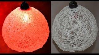 cara membuat lampu hias dari gulungan benang
