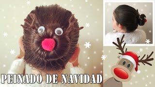 getlinkyoutube.com-Peinado de navidad: Reno Rudolf