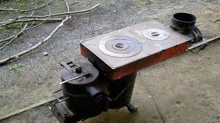 getlinkyoutube.com-((2/4)) Экономная плита на дровах/stove with wood/rocket stove