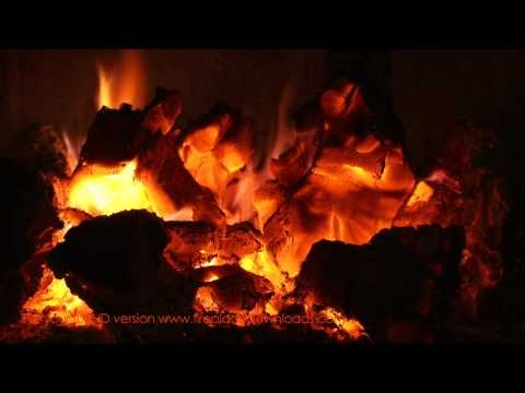 VIRTUAL HD FIREPLACE VIDEO 1080p (Red Embers)-  Fireplace downloads