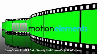 getlinkyoutube.com-Green Screen Film Roll Strip Filmstrip Reel Cinema Projection Camera
