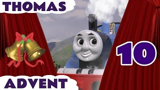 getlinkyoutube.com-Thomas and Friends Christmas Advent Calendar Surprise Toy Trains Guessing Game Day 10 ToyTrains4u