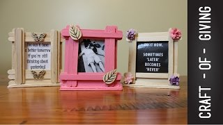getlinkyoutube.com-Easy Craft Stick Photo Frames | Craft of Giving