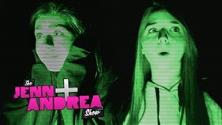 getlinkyoutube.com-Andrea is scared of GHOSTS. Jenn is not - THE JENN & ANDREA SHOW ep. 10