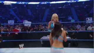 getlinkyoutube.com-Women's Champion LayCool Vs. Tiffany & Kelly Kelly - WWE Smackdown 5/21/10