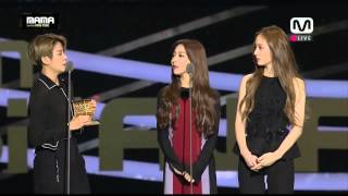 getlinkyoutube.com-Fx MAMA 2015 BEST FAN'S CHOICE